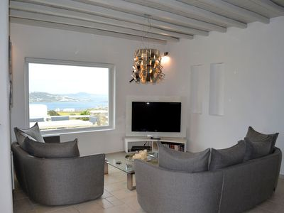 Photo for Joya House in Mykonos, with panoramic views, 3 bedrooms, it can accommodate up to 6 guests