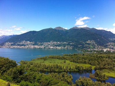 View on the Lago Maggiore and nature reserve