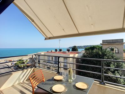 Photo for Modern apartment with exceptional sea view near the beaches in a popular area of Antibes