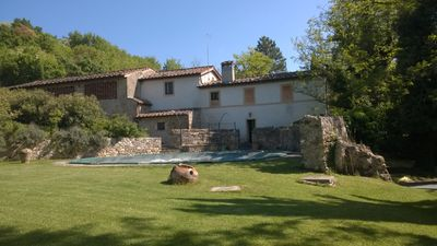 Photo for Farmhouse in old mill nestled in the beautiful Chianti hills