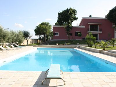 Photo for Beautiful villa with large pool and private pinewood
