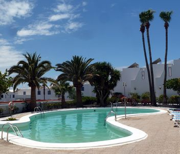 Photo for Refurbished, Poolside Apartment, Atalaya Complex, 3 mins to seafront, free wifi