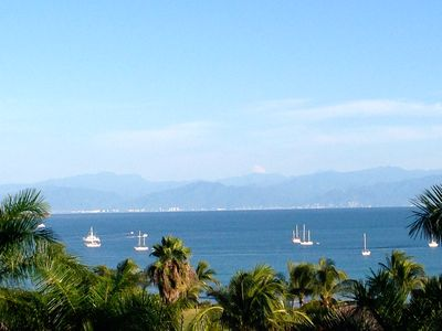 Upper Terrace South View. Vallarta in the distance
