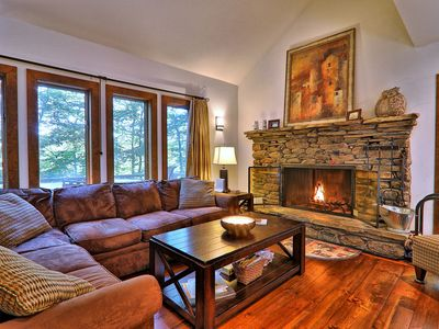 Photo for Private Hawk Mountain home with beautiful wooded views and Sauna. Free WIFI
