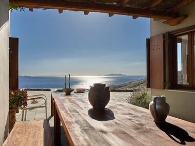 Photo for Tinos Sky House- A PANORAMIC VIEW OF THE AEGEAN