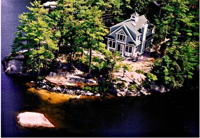 Overhead view of the property