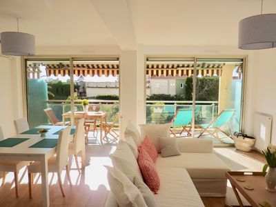 Welcome to our bright, double living/dining area that opens onto the terrace.