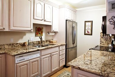Fully equipped kitchen with all the comforts of home.