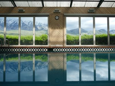 Photo for Private 1.7acre Ind.pool jacz, sauna+2lowerlevels Mtn.ViewMansion! waitlist rsvp