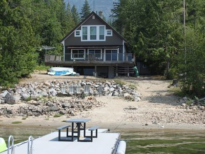 Photo for Seymour Arm Waterfront Cabin 100' Beachfront on Shuswap