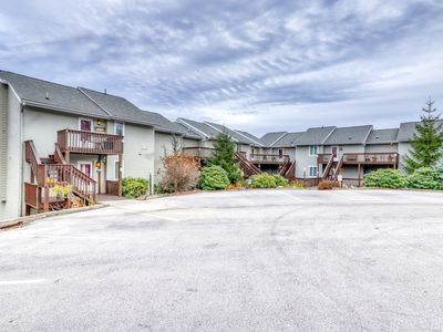 Photo for Cozy condo w/views of Grandfather Mountain, stone fireplace & secluded balcony