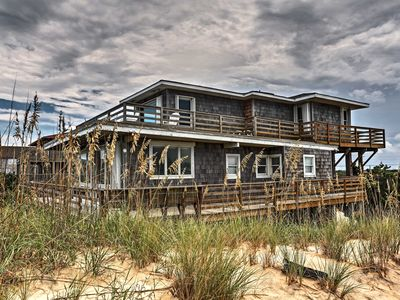 Photo for NEW! Nags Head Beachfront Home w/2 Decks & Grill!