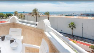 Photo for Ocean view 3 bed apartment central Marbella