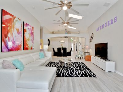 Photo for Brand New renovated Villa, 3 miles from Disney World, private pool/spa, wifi