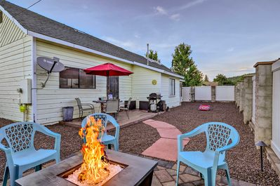 Enjoy afternoons spent in the fenced backyard, complete with a fire pit & patio!