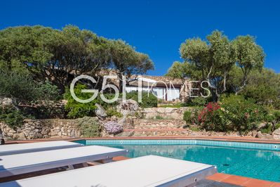 Villa with pool for rent in Sardinia, villa from the pool.