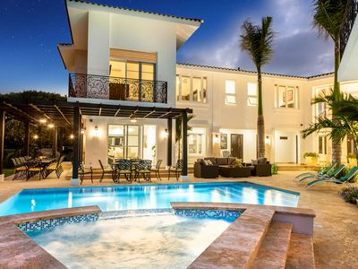 Photo for Modern Lake Front Villa with pool & jacuzzi. Gourmet Chef & Maids