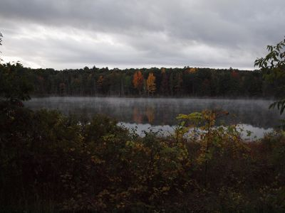 An early fall morning on the lake