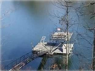 Double Level Dock for Sun Bathing, Swimming and Boat Docking