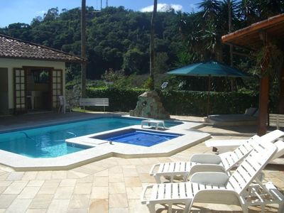 Photo for ACCOMMODATION HOUSE WITH HEATED SWIMMING POOL and FIREPLACE in Corrêas / Itaipava