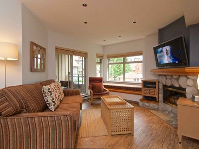Photo for Cozy Whistler getaway home with courtyard views + a pool! Heated outdoor pool and hot tub
