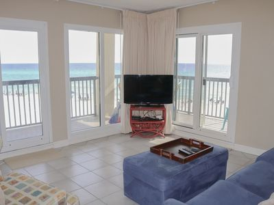 Photo for New Owners!  3 bedroom/3 bathroom beach front condo with wrap around balcony