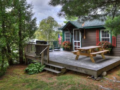 Photo for Quiet and Serene, nestled on 1.5 acres among six other cabins on a hillside in Greenvale Cove