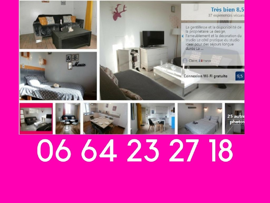 Dieppe, 10 pers, WIFI, charges included, All businesses