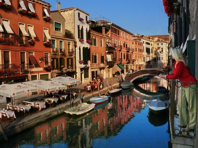 Photo for Waterfront! Balconies Overlooking Canals in Central Venice