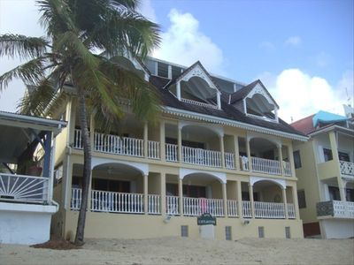 Our apt is 1st floor on the right with large balcony directly on the Beach!!!