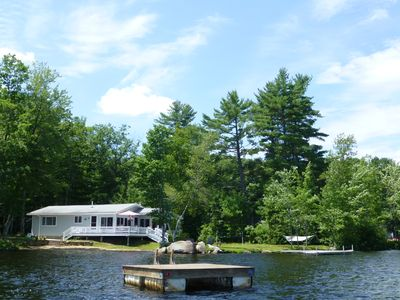 view of house from floating raft