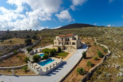 The two villas from above
