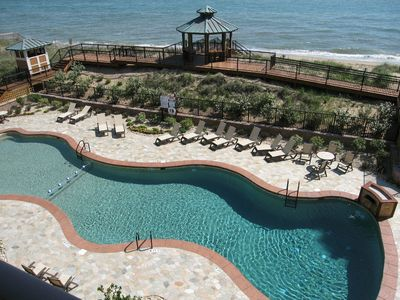 Photo for OBX Whale: Top Floor Oceanfront Condo w/High Ceilings and Sunset Views