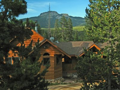 Photo for Log Home with Mountain Views and Hot Tub on 2 Acres