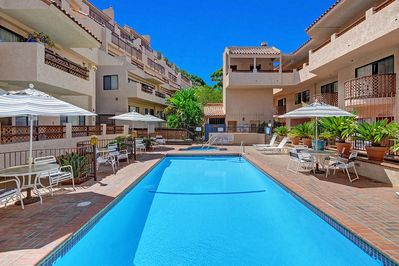 Pool and jacuzzi are located 30 steps from La Casa Sirena (Bahia Vista A-5)