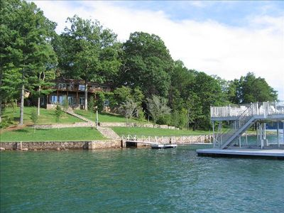 Photo for Lakefront Rental on Lake Chatuge Deep-Water