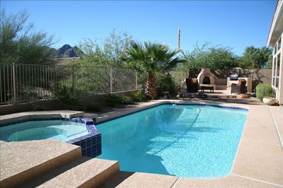 Private Pool with Moutain Views & Hot Tub/Spa & Basketball Hoop (not pictured)
