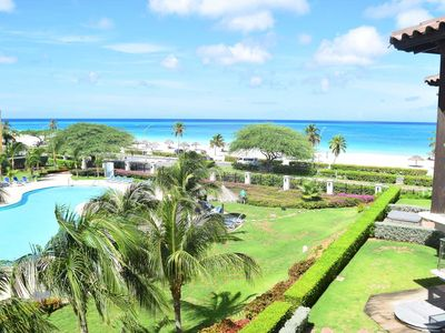 Photo for BEACHFRONT - EAGLE BEACH - OCEANIA RESORT - Turquoise View 2BR condo - BC353