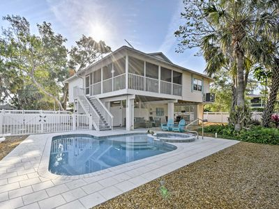 Photo for Canalfront Anna Maria Cottage w/ Pool & Hot Tub!