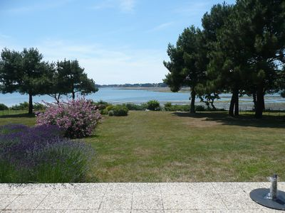 Photo for Rent villa of architect direct sea Gulf of Morbihan in July