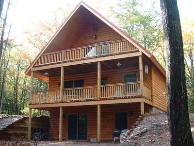 Photo for Beautifully Furnished Log Home on Secluded Shetland Creek