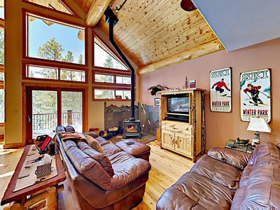 Photo for The Treehouse: Expansive Escape w/ 2 Living Areas & Hot Tub, Near Slopes