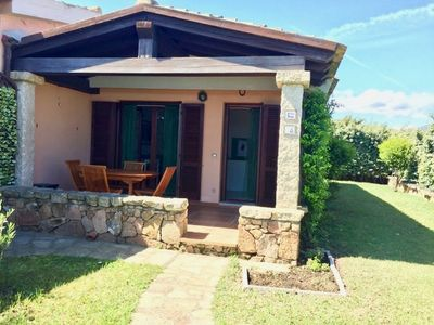 Photo for Beautiful corner villa with private garden 600 m from the Isuledda beach 2 bedrooms and 1 bathroom.