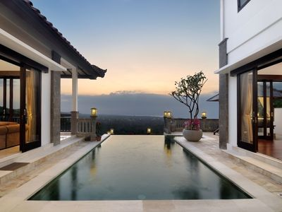 Photo for Family Villa with Hilltop Sunset Views