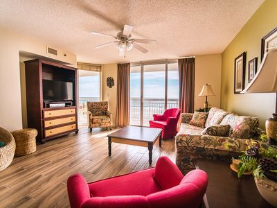 Photo for Crescent Shores 203, 4 Bedroom Beachfront Condo, Hot Tub and Free Wi-Fi!