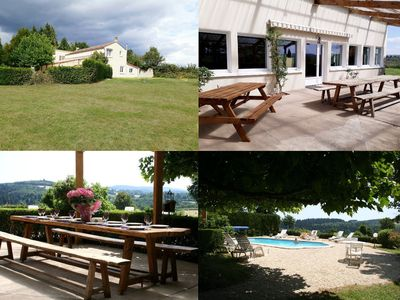 Photo for DOMAINE DU MORVAN 15 pers pool, beach volleyball, bocce without vis-à-vis