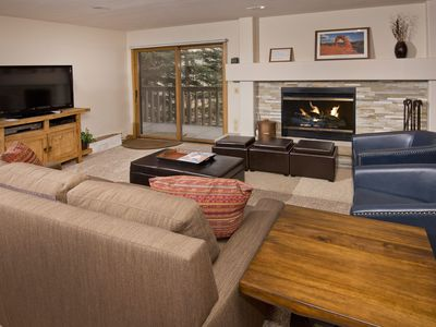 Photo for SKI/IN/OUT Beaver Creek Village, 2 bath, common hot tub