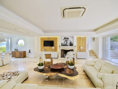 Photo for Luxury villa with sea view for rent in St Tropez 5 minutes from the village and its port