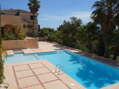Photo for Very nice apartment in a private residence on the golf of Sainte-Maxime