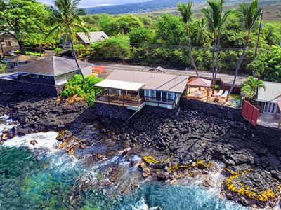 Photo for Oceanfront Honeymoon Cottage, Breathtaking Ocean views, The Cottage